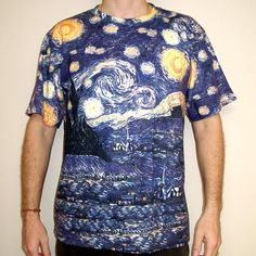 Starry Night t-shirt design by Vincent Van Gogh - fancy-tshirts.com