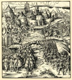 Artist: Beck, Leonhard, Title: Attack upon a city, Date: ca. 1514-1516