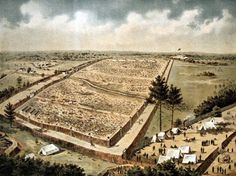 Andersonville was one of the largest prison camps during the American Civil War. It was built early in 1864 after Confederate officials decided to move the large number of Federal prisoners kept in and around Richmond, Va, to a place of greater security and a more abundant food supply. During the 14 months the prison existed, more than 45,000 Union Solders were confined here. Of these, almost 13,000 died from disease, poor sanitation, malnutrition, overcrowding, or exposure to the elements.