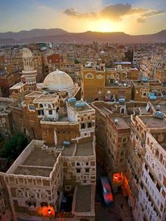 Horizonte de Sanaa, Yemen