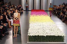 Mary Katranzou flower catwalk...