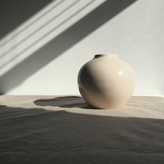 obj. 9.2 // redesigned and hand painted // taupe ceramic vessel