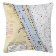 FL: Melbourne, FL Nautical Chart Pillow
