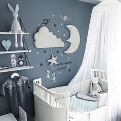 nordischen Stil Mondwolke Stern Kinderzimmer Dekoration Wanddekoration - baby and more - Babyzimmer Star Nursery, Baby Nursery Decor, Baby Bedroom, Baby Boy Rooms, Baby Boy Nurseries, Baby Decor, Baby Boy Bedroom Ideas, Baby Room Ideas For Boys, Moon Nursery