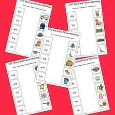 This pack includes: * 5 CVC matching sheets - PDF and ready to print Follow our…