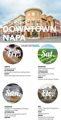 How to spend a weekend in downtown Napa Valley  #napa #napavalley #california #travel