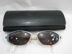 7a5b73a00bd9 Vintage Cazal Sunglasses Eyeglasses Blue Metal Gold Tone With Case MOD 430  COL 146 53
