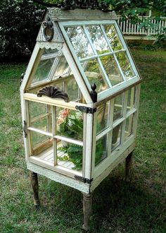 How to make the small greenhouse? There are some tempting seven basic steps to make the small greenhouse to beautify your garden. Diy Greenhouse Plans, Outdoor Greenhouse, Best Greenhouse, Greenhouse Gardening, Outdoor Gardens, Greenhouse Wedding, Old Window Greenhouse, Greenhouse Growing, Diy Small Greenhouse