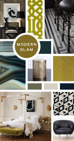 Your Ultimate Guide to Interior Design Styles: Modern Glam- Now take Hollywood Regency, keep the luxurious finishes, and get rid of the traditional ornamentation. Layer in polished marbles, plenty of metallics, and perhaps some leather, and we've moved gl