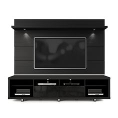 The Cabrini TV Stand and Cabrini Panel combined create a complete Home Theater Entertainment Center. Easily maneuver the Cabrini TV Stand into place, with the convenient wheels for hassle-free arrangement. Mount your TV directly Cabrini TV Panel Tv Stand And Panel, Tv Panel, Tv Stands, Led Tv Stand, Night Stands, Floating Entertainment Center, Entertainment Centers, Entertainment Wall, Black Painted Furniture