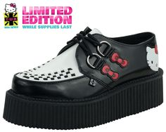 Hello Kitty Black & White Mondo Creepers - T.U.K. Shoes | T.U.K. Shoes