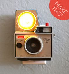 turn a vintage camera into a nightlight