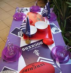 Dockers Football theme party hire packages for kids in Perth, WA