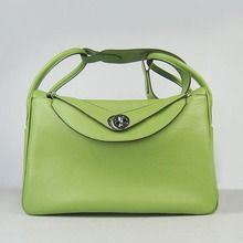 Hermes Lindy 34cm Leather Bag - Green  $269.00