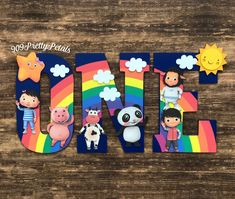 Little Baby Bum Letters , Party decor , nursery decor Baby First Birthday Themes, Baby Boy 1st Birthday Party, 1st Birthday Party Decorations, Happy Birthday Banners, 2nd Birthday Parties, First Birthdays, Birthday Ideas, 11th Birthday, Paw Patrol Decorations