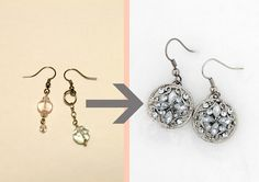 Turn buttons into earrings. A quick and clever tutorial! I'm a button collector...I'll be stylin'