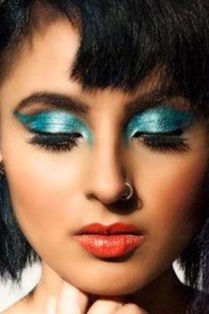 Not Feeling blue but just eccentric =D Makeup by www.noraartistry.com  Photo by Martin Delfino