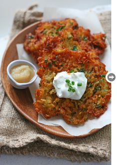 Potato Latkes - these we're simple and delish!  The parsley adds a fresh kick to these crispy treats.