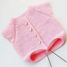 The Most Exclusive Handmade Baby Vest Models 38 Crochet Baby Jacket, Knitted Baby Cardigan, Baby Pullover, Knit Crochet, Sweater Hat, Easy Knitting Patterns, Knitting For Kids, Baby Knitting, Baby Sweaters