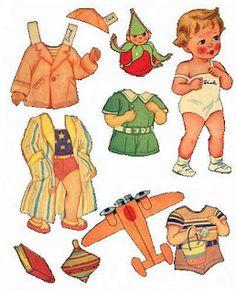vintage paper doll by Bonecas de Papel