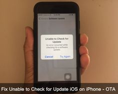 Have you getting an error Unable to Check for Update iOS on iPhone, iPad, iPod Touch Learn here how to fix that as handy way for all iOS 8, iOS 9, iOS 10