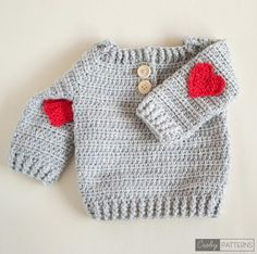 Crochet baby cardigan red hearts Ideas for 2019 Crochet Baby Sweater Pattern, Crochet Baby Sweaters, Gilet Crochet, Baby Sweater Patterns, Crochet Baby Clothes, Knitted Baby Blankets, Crochet Cardigan, Baby Blanket Crochet, Baby Patterns