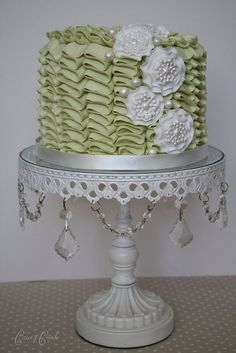 Beautiful Lime frill cake by Cookies and Crumbs