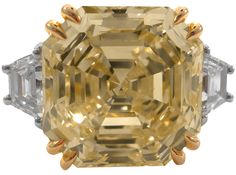 love this 7.58 Fancy Yellow diamond ring!!