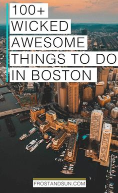 100+ wicked awesome things to do in Boston, Massachusetts. Pin me if you're planning a trip to Boston, MA, USA!