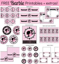 Barbie party printables - free and more!