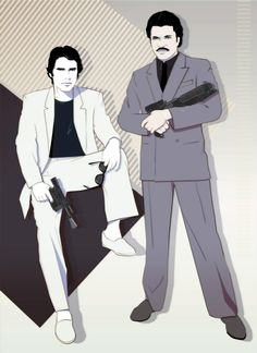 Han Solo and Lando Calrissian (Miami Vice style) by Craig Drake