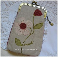 PequeñOs Trabajos. Sewing Tutorials, Sewing Hacks, Sewing Projects, Purse Wallet, Coin Purse, Pouch, Frame Purse, Basket Quilt, Glasses Case