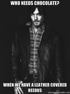 Leather covered Norman Reedus