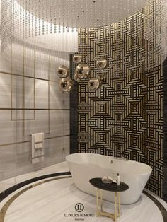 A luxury bathroom in a private villa in Kalba City. Luxury & More interiors is an interior design firm specializing in residential and commercial projects.