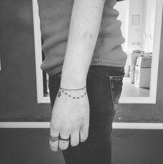 Beaded Bracelet Tattoo by Academy Tattoo