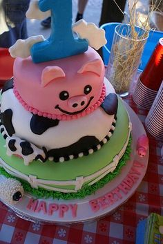 Pig and cow cake