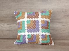 Check out this item in my Etsy shop https://www.etsy.com/listing/450765122/crochet-granny-square-pillow-cover