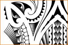 maori polynesian tribal tatoo designs