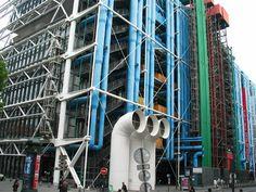 The eccentric Pompidou Center in Beaubourg, Paris