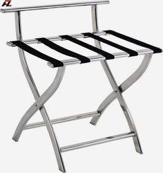 China hotel supplies manufacturer: Stainless Steel Tubular Luggage Rack for Five Star Hotels