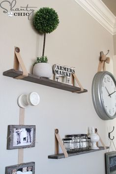 DIY-Shelves-with-Leather-Straps