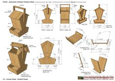 CF _ Chicken Feeder Plans Construction How To Build A Chicken Feeder ... CF100 - Automatic Chicken Plans Units: Inches - ...