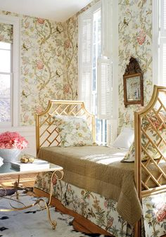 Papagayo wallpaper and fabric in cream from the Anniversary collection. Thibaut