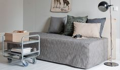 Bemz bedskirts and daybed covers to convert a twin bed into daytime seating