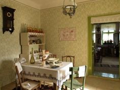 old fashioned dining room in Vojvodina's house