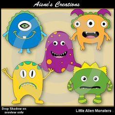 Free Little Alien Monsters