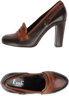 High heel mocassin / ShopStyle: EVADO ヒールモカシン