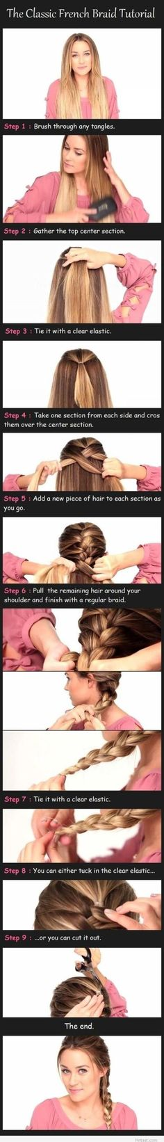 French braid,thanks for the visual tutor.. lets see if i can actually do this