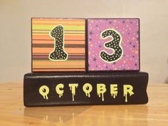 October Halloween theme wooden block calendar I made recently