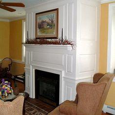 Raised Panel Fireplace Surround.